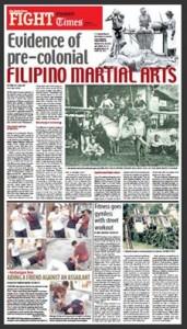 Evidence of pre-colonial FILIPINO MARTIAL ARTS